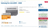 Carte mémoire Samsung Evo microSDXC – 64GB pour seulement 9CHF chez Steg Pc !