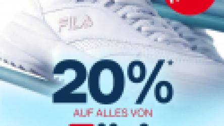 20% de réduction sur tous les articles Fila chez Dosenbach