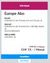 L'abonnement Lebara Europe actuellement pour 19.00 CHF/mois !