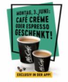 Aujourd'hui, savourez un espresso ou un café crème gratuit (coupon via l'application) chez Mcdonald's
