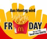 Un cornet de petites frites gratuit chez McDonalds