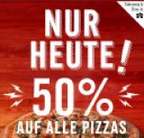 50% sur toutes les pizzas chez Dominos