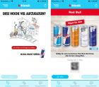 Boites Red Bull gratuites via l'application Kiosk et le site web !