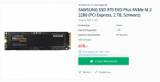 Samsung SSD 970 EVO Plus 2 To pour 419.00 CHF