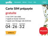Carte SIM prépayée Gratuite Yallo