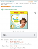 Pampers taille diverses