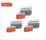 Cartes mémoires Samsung Evoplus 128 GB triple packs