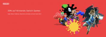 20% sur les jeux Nintendo Switch