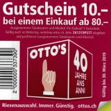 10 CHF de réduction chez Otto's!