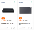 Projecteur laser Xiaomi Mi 4K 150 ″ + écran Xiaomi Mi Ambient Light 100 ″ chez Melectronics