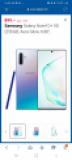 SAMSUNG Galaxy Note10 + 5G, 256 Go, couleur Aura Glow ou en Noir