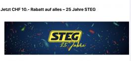 Chez STEG Electronics: Une remise de 10 CHF sur tout, sans minimum d'achat, jusqu'au 13.10.2019!