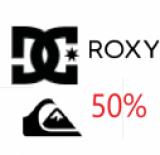 En soldeavec 50% supplémentaires : Vêtements d'hiver chez Quiksilver, Roxy et DC