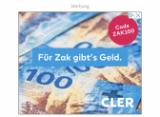 Le crédit de départ ZAK de 100 CHF est toujours valable